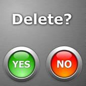 delte button