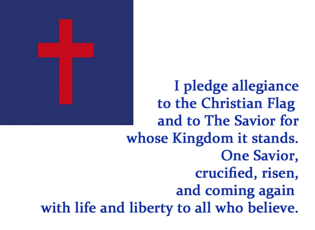 Christian Flag Pledge